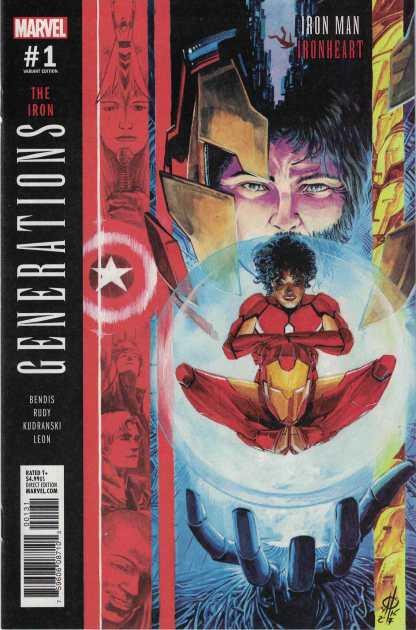 Generations Iron Man Ironheart #1 1:25 Marco Rudy Variant Marvel 2017