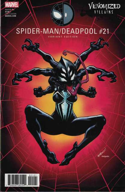 Spider-Man Deadpool #21 Ed McGuinness Unlocked Venomized Itsy Bitsy Variant