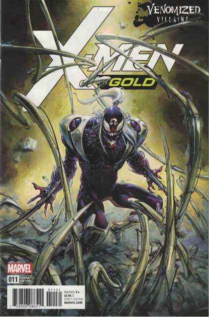 X-Men Gold #11 Clayton Crain Unlocked Venomized Omega Red Variant Marvel 2017