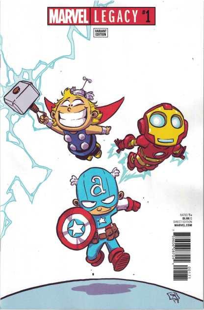 Marvel Legacy #1 Unlocked Skottie Young Avengers Variant 2017