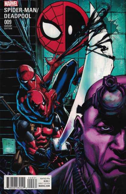 Spider-Man Deadpool #9 1:15 Portacio Classic Variant Marvel ANAD 2016