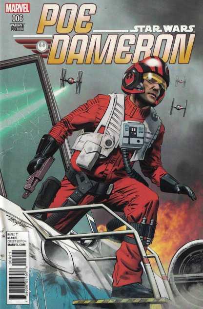 Star Wars Poe Dameron #6 1:25 Mike Mayhew Variant Marvel 2016 TFA
