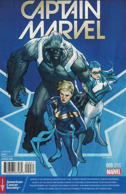 Captain Marvel #9 Sook Prostate Cancer Awareness Variant Marvel ANAD 2016