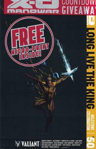 X-O Manowar #50 1:10 Chip Zdarsky Variant Cover I Valiant