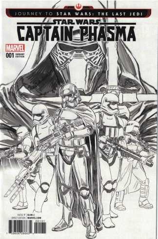 Journey Star Wars Last Jedi Captain Phasma #1 1:200 Brooks Sketch Variant 2017