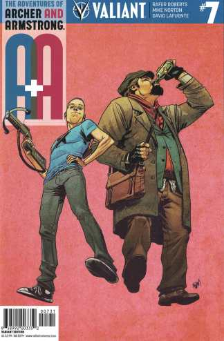 A&A Adventures Archer & Armstrong #7 1:10 Gorham Variant Cover C Valiant 2016