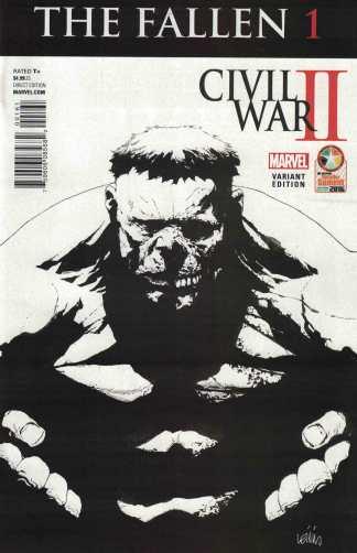 Fallen #1 Diamond Retailer Summit Exclusive Variant Civil War II Marvel 2016