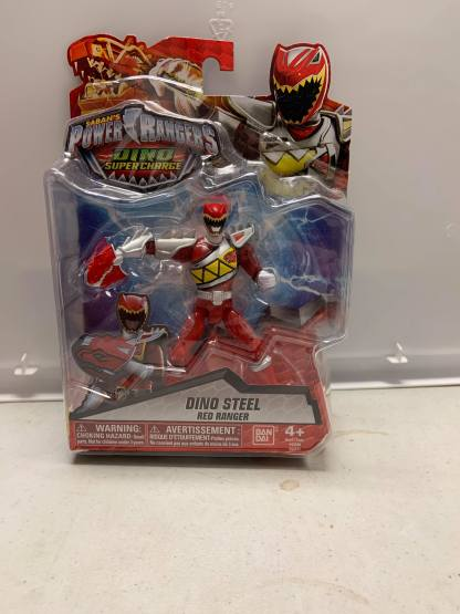 "Power Rangers Dino Super Charge Dino Steel Red Ranger Figure 5"""