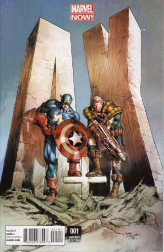 A+X #1 1:20 Mike Deodato Variant Marvel 2012 Captain America A Plus X
