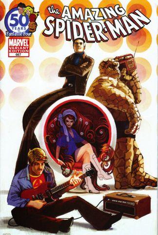 Amazing Spider-Man #667 Hans Fantastic Four 50th Anniversary Variant Marvel 1998