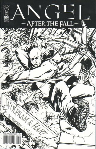 Angel: After the Fall #4 1:10 Urru Sketch Variant IDW 2008 Whedon