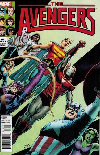 Avengers #19 John Cassaday 1980's Variant 50 Years of Avengers Hickman Infinity