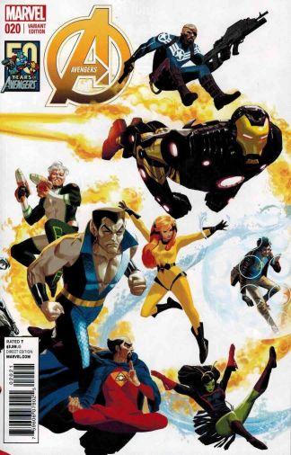 Avengers #20 Daniel Acuna 50 Years of Avengers Variant