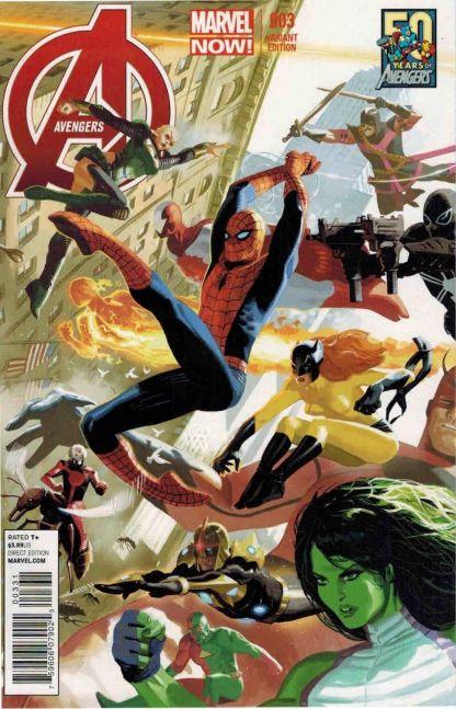 Avengers #3 Daniel Acuna 50th Anniversary Variant Marvel 2013 Hickman