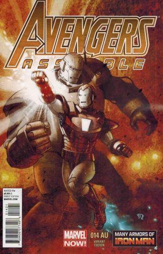 Avengers Assemble #14AU 1:20 Many Armors of Iron Man Variant