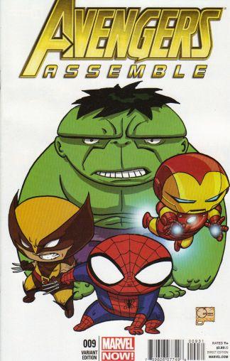 Avengers Assemble #9 1:75 Joe Quesada Color Variant Marvel 2012