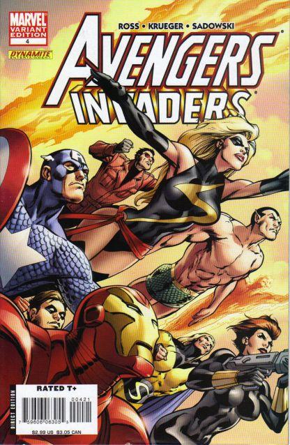 Avengers Invaders #4 Alan Davis Variant Dynamite