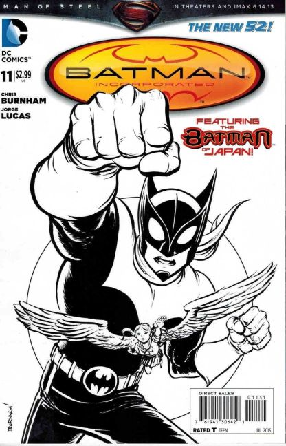 Batman Incorporated #11 Chris Burnam B & W Batman of Japan Variant New 52
