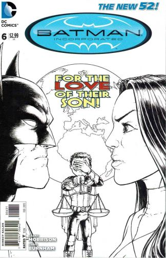 Batman Incorporated #6 Black and White Burnham Sketch Variant