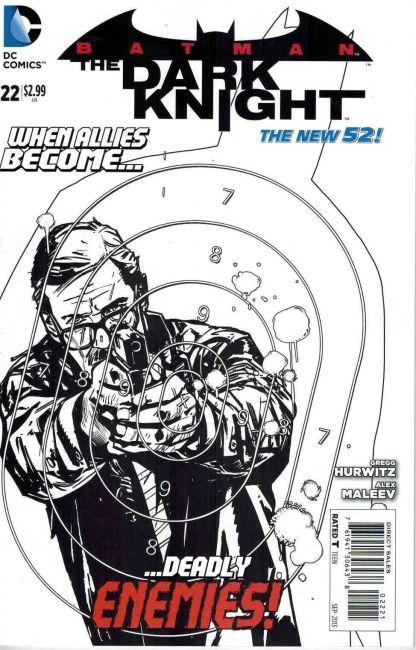Batman: The Dark Knight #22 Alex Maleev Black and White Sketch Variant