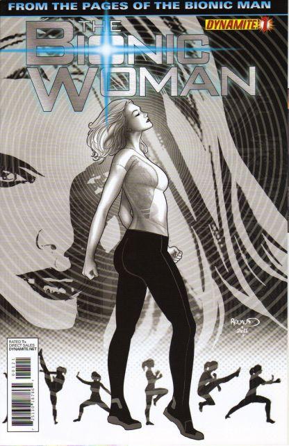 Bionic Woman #1 1:15 Renaud B&W Variant