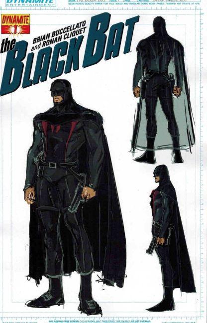 Black Bat #1 Buccellato Concept Art Variant