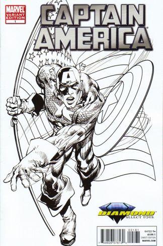 Captain America #1 Diamond Select Toys Neal Adams Sketch Variant