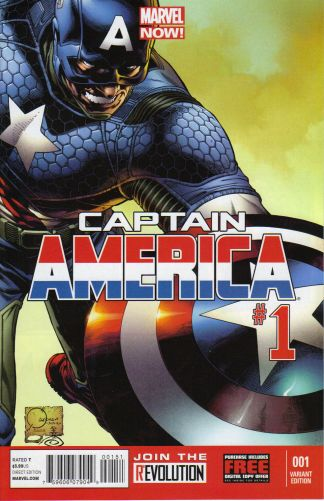 Captain America #1 1:100 Joe Quesada Color Variant Marvel NOW 2012
