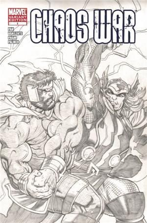 Chaos War #1 Sketch Variant Ed McGuiness Cover