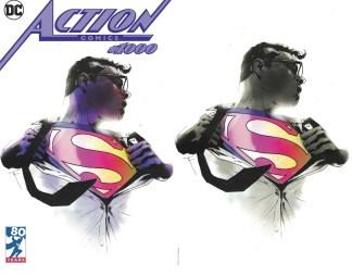 Action Comics #1000 Jock Trade Dress + Virgin Partial Sketch Variants DC 2016