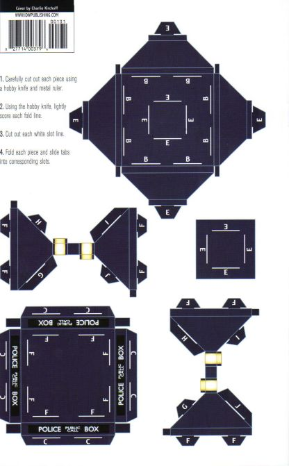 Doctor Who #1 1:25 Kirchoff Build-Your-Own TARDIS Variant IDW 2012 Eleventh