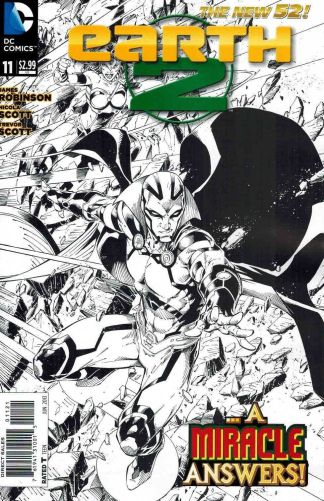 Earth 2 #11 Black and White 1:25 Sketch Variant
