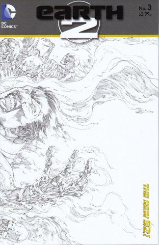 Earth 2 #3 1:25 Sketch Variant Alan Scott Green Lantern