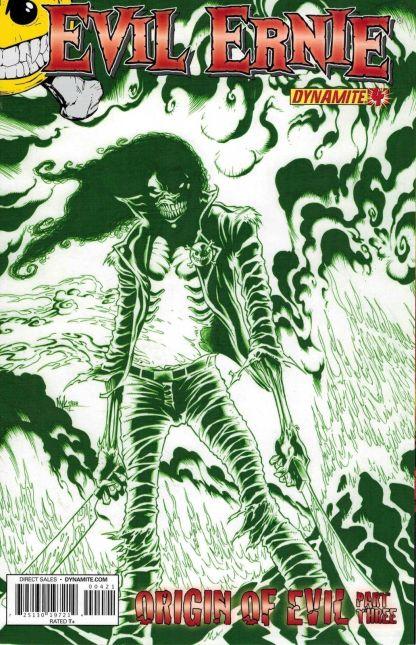 Evil Ernie #4 Kyle Hotz Chaotic Green Variant