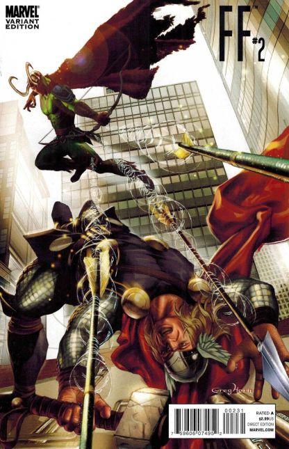 FF #2 Thor Goes Hollywood Greg Horn Matrix Variant