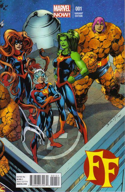 FF (Vol. 2) #1 Mark Bagley Variant Marvel Now!