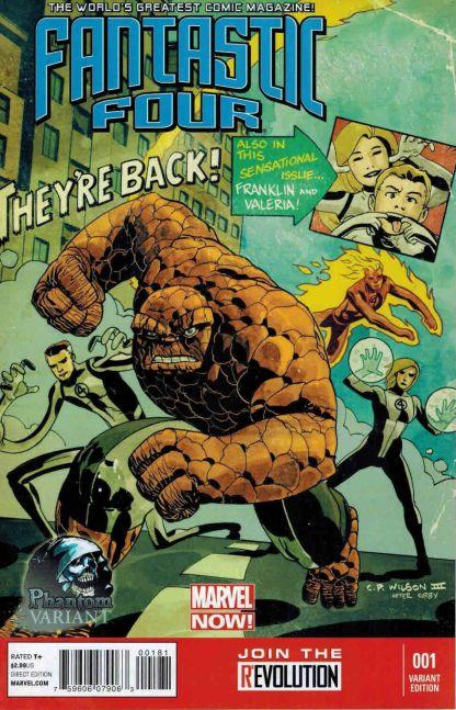 Fantastic Four #1 Marvel NOW C.P. Wilson III Phantom Variant