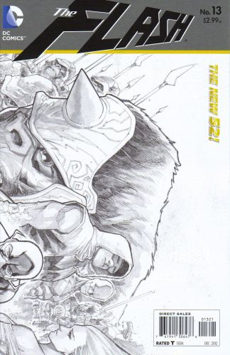 Flash #13 1:25 Sketch Variant The New 52!