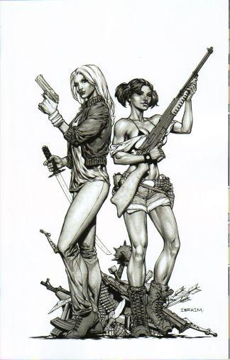 Freelancers #1 Cover G Ibraim Roberson Virgin Art B&W Variant SOLD OUT!