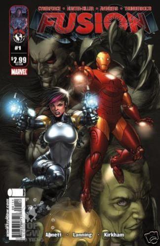 Fusion # 1 Variant Cover Avengers Thunderbolts Cyber Force Hunter / Killer