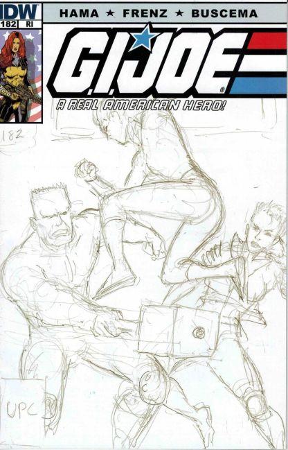 G.I. Joe #182 Larry Hama Sketch Variant