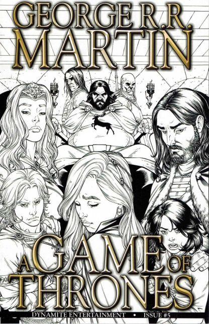 Game of Thrones #5 1:25 Miller Black & White Sketch Variant Dynamite 2011