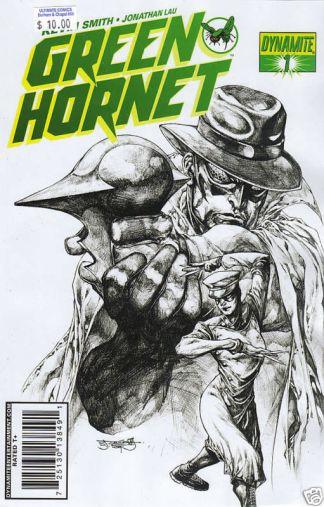 Green Hornet #1 Stephen Segovia B&W Variant