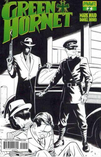 Green Hornet #2 Black and White Sketch Variant Mark Waid