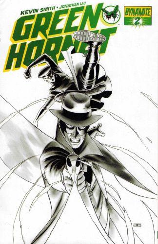 Green Hornet #2 John Cassaday Black and White Sketch Variant
