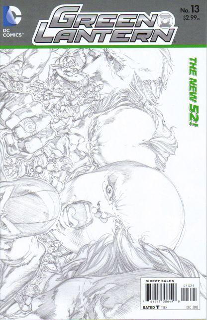 Green Lantern #13 1:25 Sketch Variant New 52!