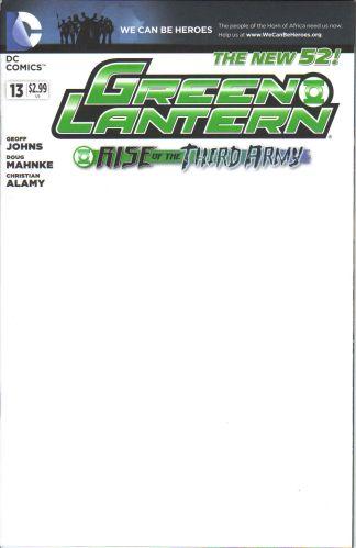 Green Lantern #13 Blank Variant The New 52 DC Comics 2011