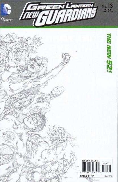 Green Lantern New Guardians #13 1:25 Sketch Variant DC New 52 2011