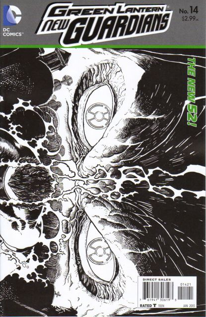 Green Lantern: New Guardians #14 1:25 Sketch Variant The New 52!