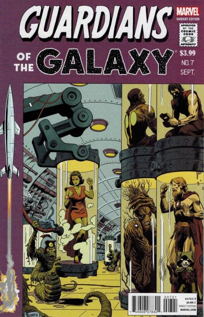 Guardians of the Galaxy #7 1:50 Paolo Rivera EC Homage Variant Marvel NOW 2012